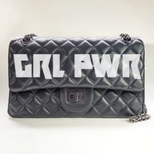 GRL PWR Nancy Hue lambskin leather Flap Bag