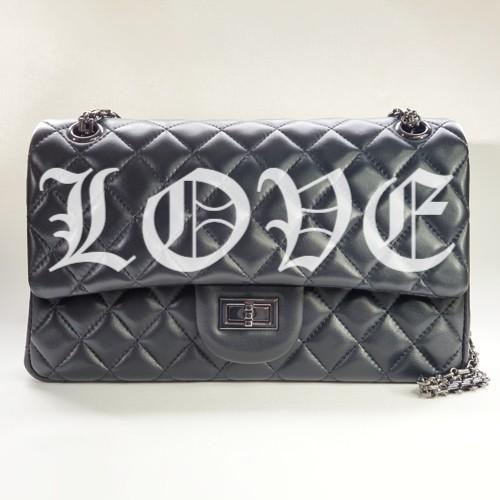 LOVE Nancy Hue lambskin Flap Bag